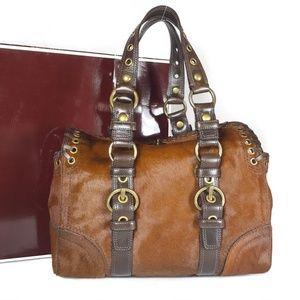 COACH Chelsea Fawn Brown Haircalf/Leather
